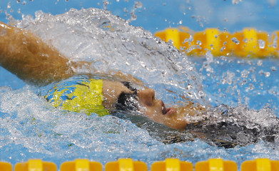 Australia's Stephanie Rice swims during the women's 200m individual medley heats at the London 2012 Olympic Games