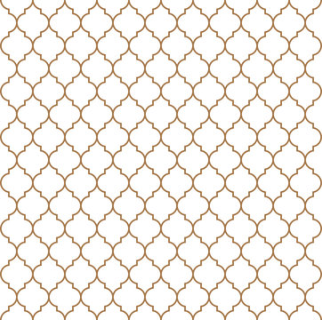 Flat outline moroccan seamless pattern vector