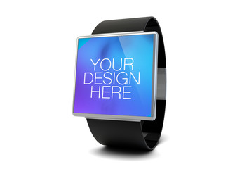 Isolated Smartwatch on White Mockup 1