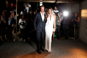 Rande Gerber and Cindy Crawford arrive to attend a presentation of Tom Ford's Autumn/Winter 2016 collections during New York Fashion Week in the Manhattan borough of New York