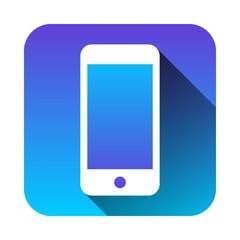 スマホ携帯電話アイコンロングシャドウ青紫