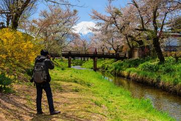 photographer shooting Mt. Fuji