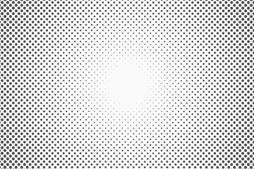 Garden Poster Pop Art Halftone dots. Monochrome vector texture background for prepress, DTP, comics, poster. Pop art style template