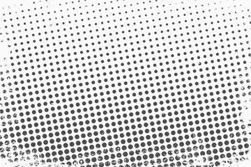 Acrylic Prints Pop Art Halftone dots. Monochrome vector texture background for prepress, DTP, comics, poster. Pop art style template