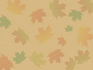 Abstract vector background with colorful maple leaves