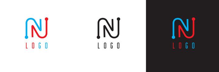 Modern monogram letter N logo