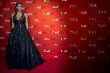 Reality TV star Kim Kardashian arrives for the TIME 100 Gala in New York