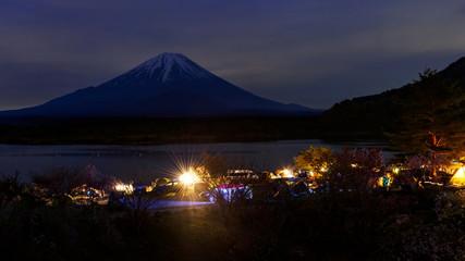 Camping at Shoji lake, Japan