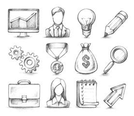 Stylish design elements, Business icons