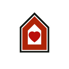 Family house abstract vector icon, harmony at home concept. Simple building, real estate business, architecture theme symbol for use in graphic design.