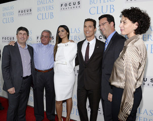 "Shell, Meyer,  Alves, McConaughey, Karpen and Langley, attend the premiere of the film ""Dallas Buyers Club"" in Beverly Hills"