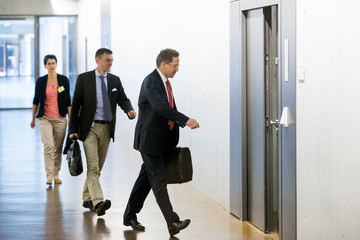 President of Germany's intelligence agency Verfassungsschutz Maassen arrives for session of parliamentary intelligence control committee (PKGR) in Berlin