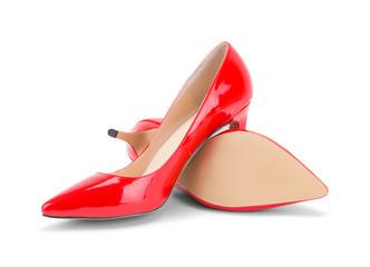 Red High Heels Off