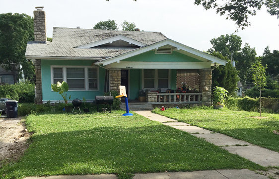 A house at 1166 E. 77th Terrace is pictured in Kansas City
