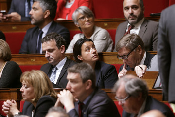 Former French Housing minister Duflot attends the questions to the government session at the National Assembly, in Paris