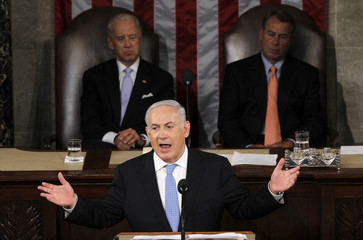 Israel Prime Minister Netanyahu addresses a joint meeting of Congress in Washington