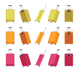 Modern travel suitcases