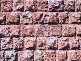 brown wild natural stone wall. beautiful stone wall