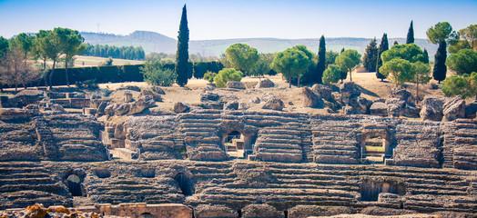 Foto auf Acrylglas Ruinen Roman ruins Itálica Spain