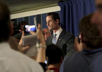 U.S. Congressman Anthony Weiner speaks to the press in New York