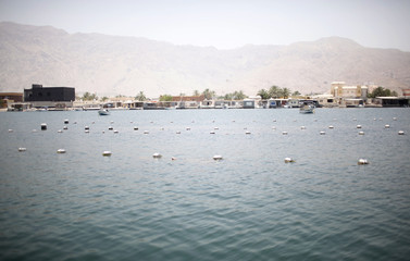 A general view of RAK's oyster farm off the coast of Ras Al Kaimah, one of the seven emirates that make up the United Arab Emirates