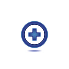 Medical cross line icon .