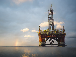 Drilling rig on the ocean