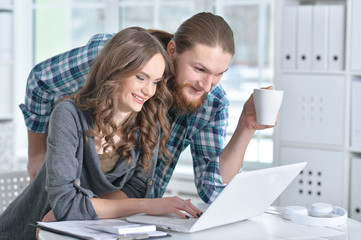 Married couple plans their budget