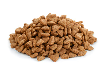 Pile of dry cat food