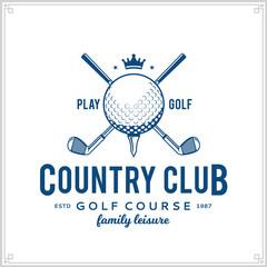 Golf country club logo