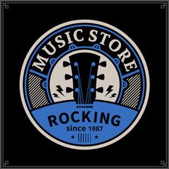 Vector music store logo