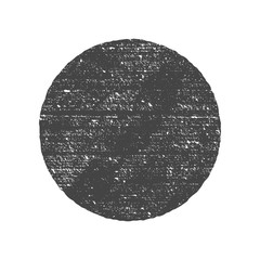 Grunge round circle shape. Dirty texture vector illustration