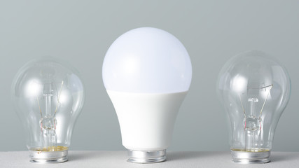 Led lamp and incandescent bulbs