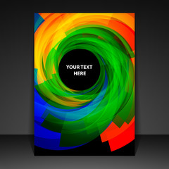 Flyer Design with Colorful Spiral Pattern