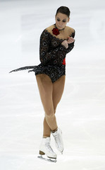Hecken of Germany performs during the ladies short program event at the ISU World Figure Skating Championships in Moscow
