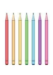 Color fine tip markers collection. Vector Illustration