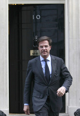 The Prime Minister of the Netherlands, Mark Rutte, leaves 10 Downing Street in London