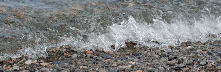 Banner of a sea wave crystal clear water