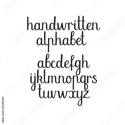 Modern Calligraphy Alphabet Hand Lettering