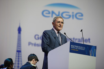 Engie Chairman and CEO Gerard Mestrallet speaks during the 26th World Gas Conference in Paris