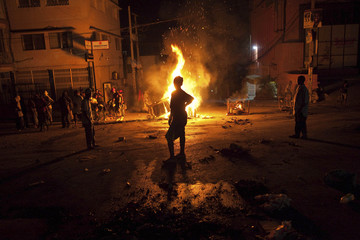 Protesters take to the streets after the release of preliminary election results for Haiti's countrywide elections
