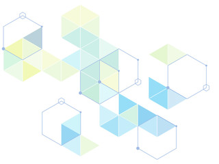The geometric arrangement of hexagons and triangles. element. vector graphics