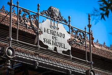 Poster de jardin Madrid Mercado de San Miguel - famous market in Madrid, Spain