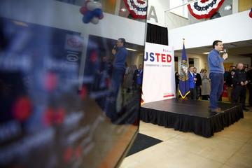 U.S. Republican presidential candidate Ted Cruz attends a campaign event in Portsmouth