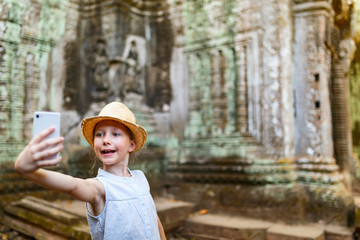 Girl in Angkor Wat temple
