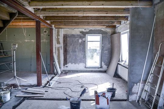 Sanierung * Wohnzimmer Kernsanierung6