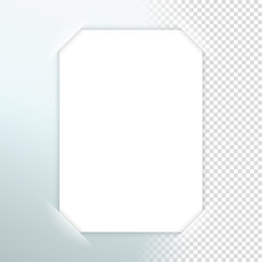 Vector Paper Frame With Transparent Shadow