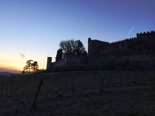 Castello di Brolio al tramonto (Toscana, Italy)