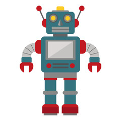 Robot toy on a white background