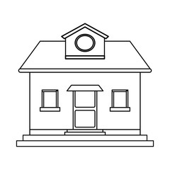 pretty family house icon image vector illustration design